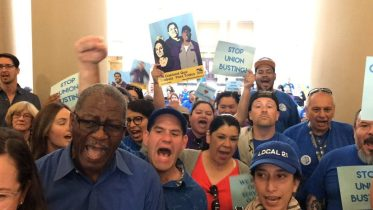 Oakland City Workers Call Out Oakland Mayor Libby Schaaf's Administration For Union Busting