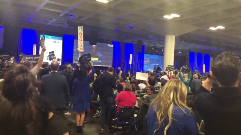 Rusty Hicks Get Huge Introduction At California Democratic Convention