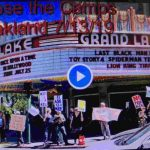 Oakland Grand Lake Protest Of Trump Camps