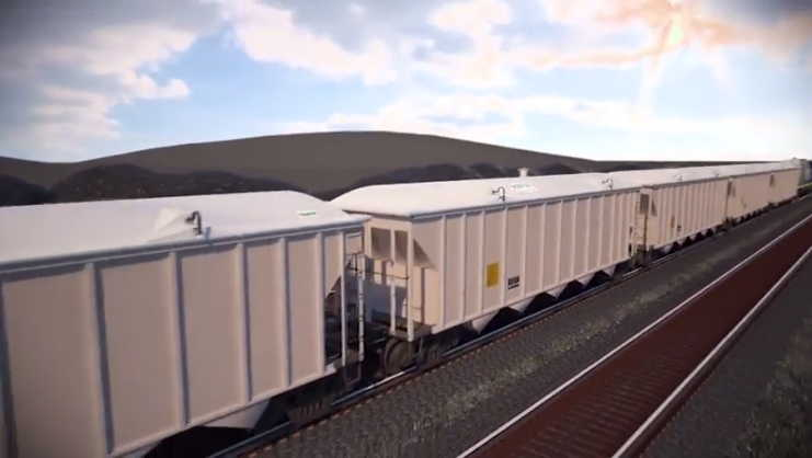Oakland Obot Covered Commodity Rail Cars