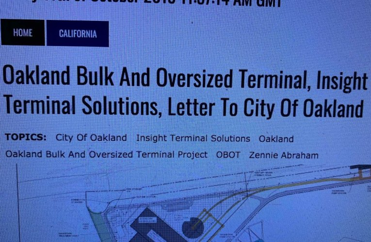 Insight Terminal Solutions OBOT Part 2 On How City Of Oakland Stymied BCDC Permits