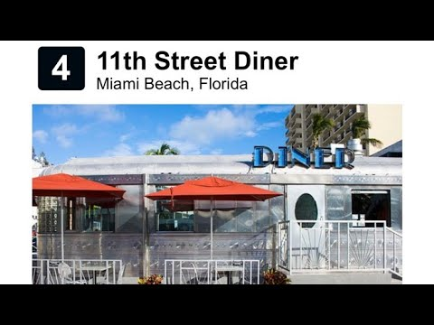 11th Street Diner Restaurant In Miami South Beach For Super Bowl LIV
