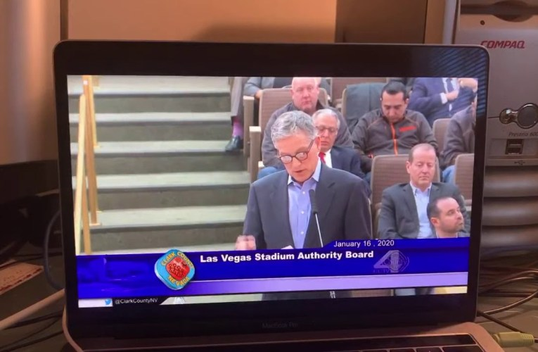 Oakland Raiders Don Webb Speaks On Cable-Net Roof Problem At Las Vegas Stadium Authority Meeting