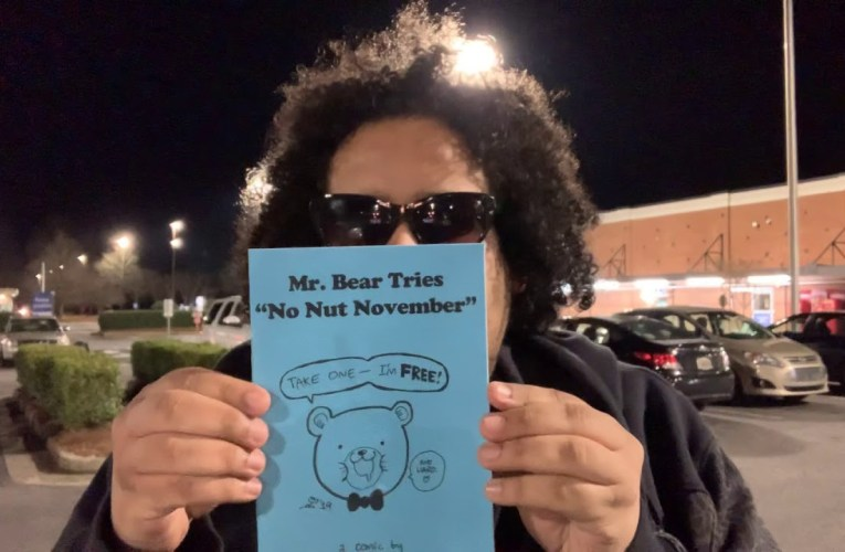 """Ray N: Fayetteville GA's Best Cartoonist New Book Called """"Mr. Bear Tries No Nut November"""""""