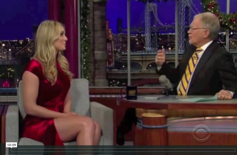 Lindsey Vonn Hot Legs Basic Instinct Dress For David Letterman Interview In 2011