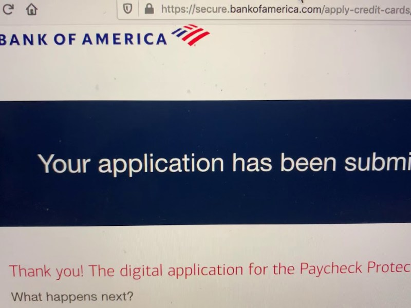 Bank Of America Paycheck Protection Program Website Access Works On Second Try