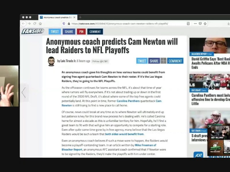 Cam Newton Can Lead Raiders To Playoffs – Jameis Winston Can Get Las Vegas To Super Bowl