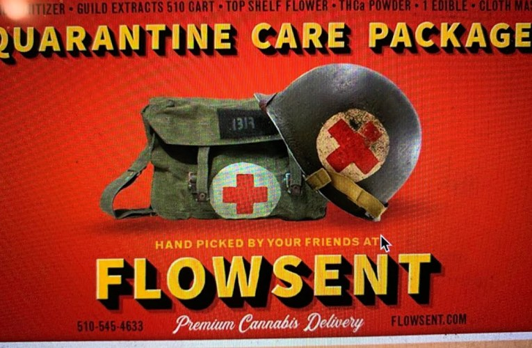 Oakland Cannabis Delivery Dispensary: Flowsent Has Quarantine Care Package