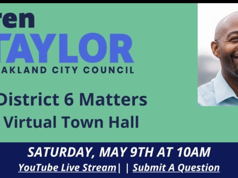 Loren Taylor Oakland Councilmember District 6 Livestream: COVID-19 Updates And Community Tips