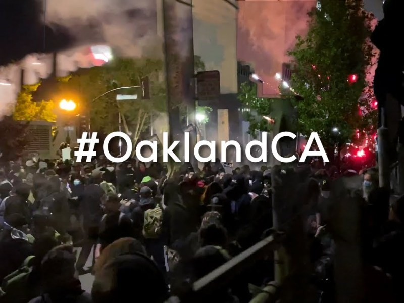 George Floyd Murder Protest: Oakland Black Lives Matter Clashes With Oakland Police