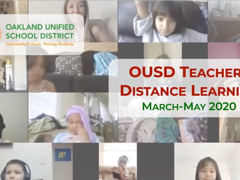 Oakland YouTube Video Shows OUSD Teachers Doing Distance Learning, March-May 2020