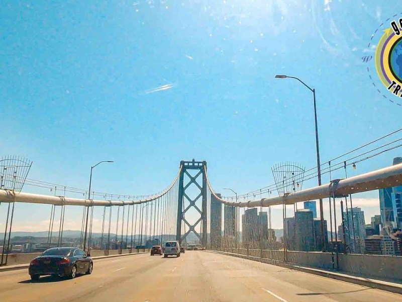 San Francisco Oakland Bay Bridge Scenic Drive from Toll Plaza to Downtown SF 4K
