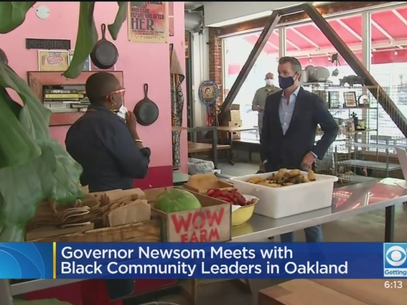Governor Newsom Meets With Black Community Leaders In Oakland