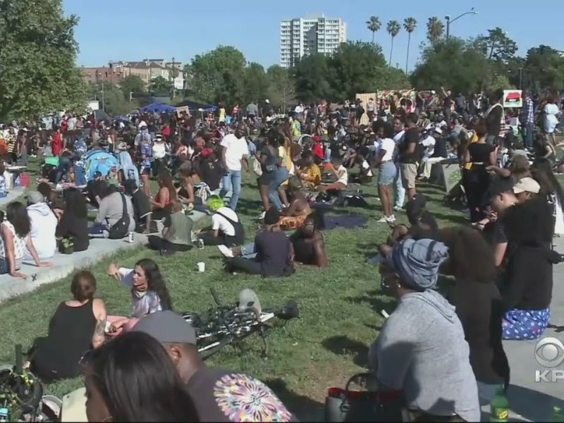 Thousands Gather For Peaceful Juneteenth 2020 Celebration In Oakland
