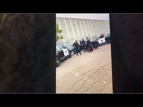 """Oakland Police Officers Gang Arrest Alleged Black Male Carjacker, Who Says """"I Can't Breathe"""""""