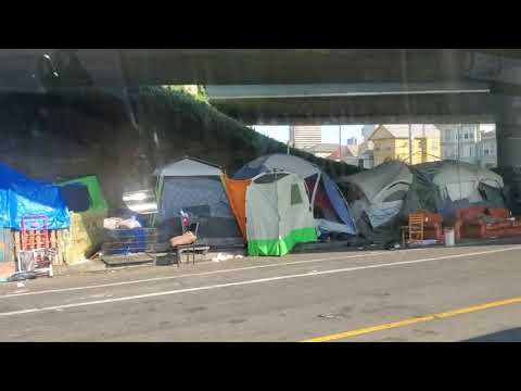 Massive Homeless Encampment at MLK & West Grand Oakland