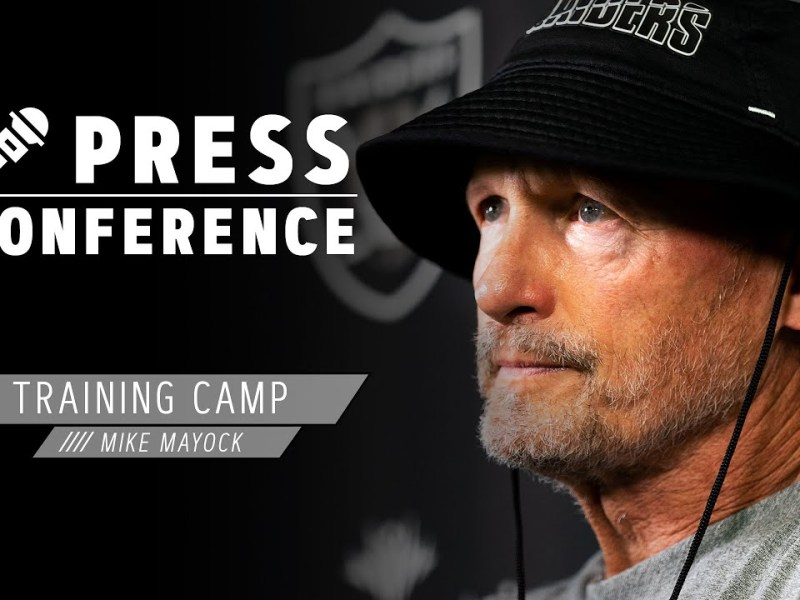 Mike Mayock Loves the Energy at Training Camp, Focused on Panthers | Las Vegas Raiders