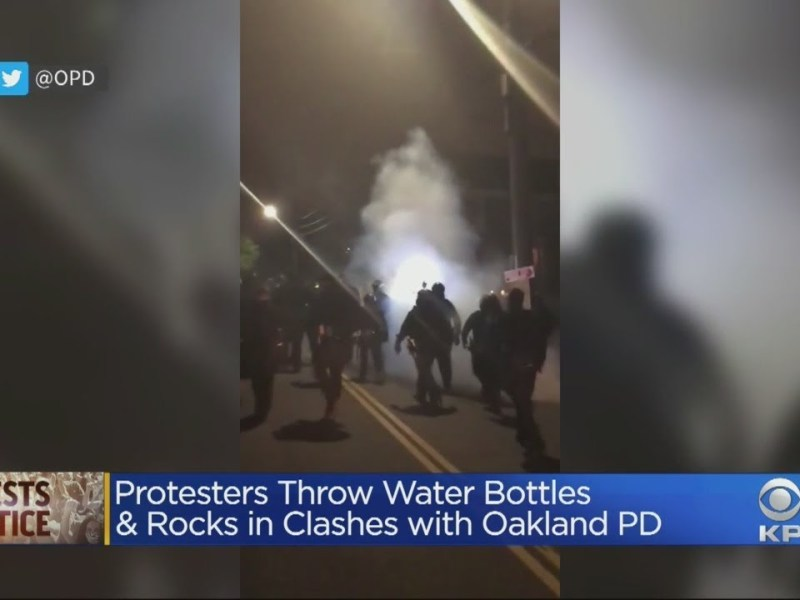 Oakland Police Clash With Jacob Blake Protesters For Third Night Since Wednesday