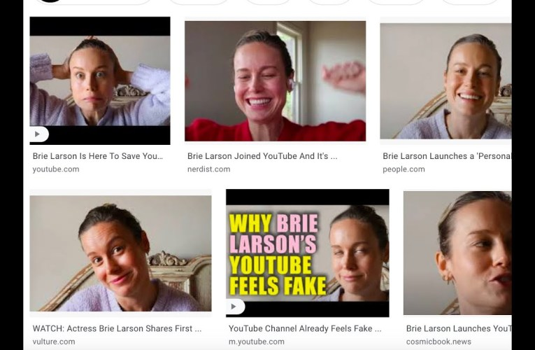 On The YouTube Wasteland Of Video Content That Are Stupid Attacks On Brie Larson – Except One