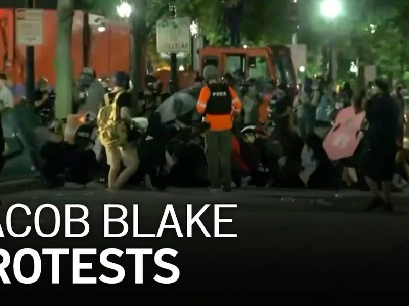 Jacob Blake Protests: Oakland Protest Of Shooting Of Unarmed Black Man In Back 7 Times