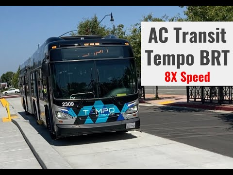 From San Leandro Through Oakland: Tempo BRT Timelapse (Full Route) YouTube Video