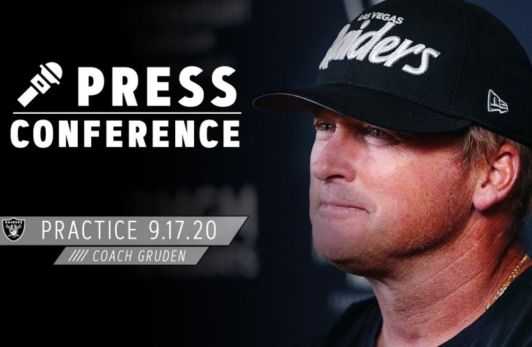 Coach Gruden on Slowing Down the Saints, Week 2 Mindset for MNF | Las Vegas Raiders