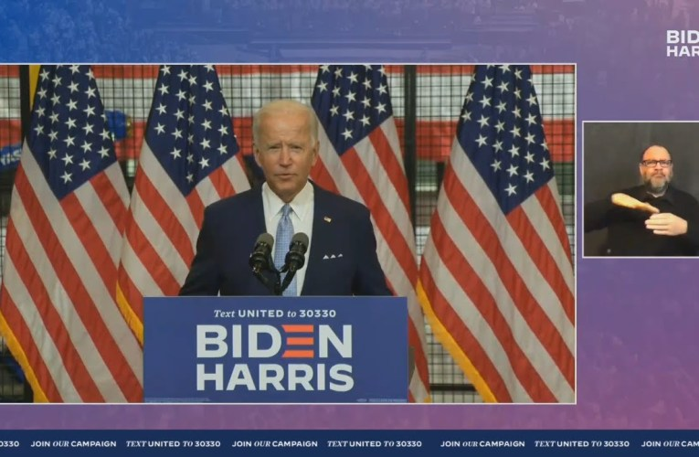 Joe Biden's Hard-Hitting Speech On Donald Trump's America Live In Pittsburgh, Pennsylvania