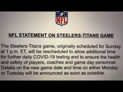 NFL To Reschedule Sunday's Steelers-Titans Game To Allow For More COVID-19 Testing Time