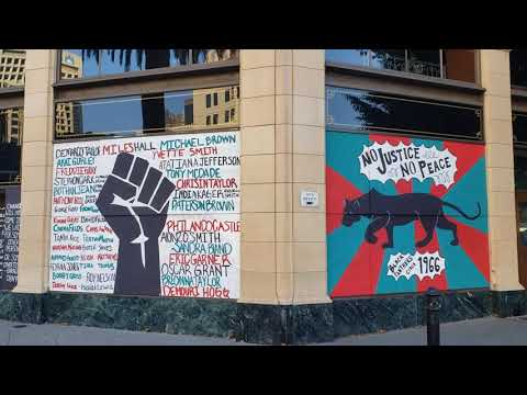 Black Panthers Oakland California Mural At The Fox Theater
