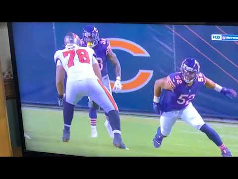 Former Raiders DE Khalil Mack Sacks Tom Brady, Body-Slams Tristan Wurts In Bears vs Bucs TNF Game