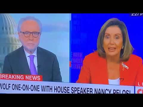 Nancy Pelosi Scolds CNN's Wolf Blitzer On Coronavirus Relief Bill Negotiations And Trump