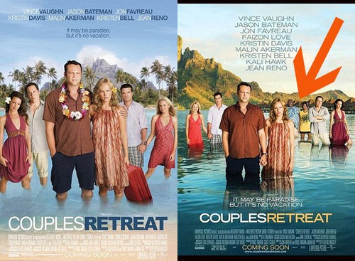 Couples Retreat Racist Poster and Original Poster with Faizon Love and Kali Hawk(1)