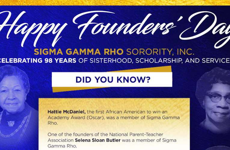 Sigma Gamma Rho Founders' Day November 12th 2020