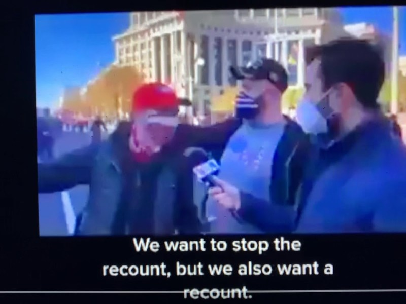 """Election Recount Supporters In Video Say """"Donald Trump Is A Genius. That's What The J Stands For"""""""