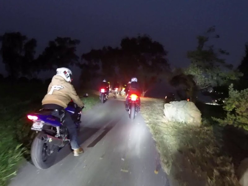 50 Bikers Ride Through Port Of Oakland: Oakland Night Ride By Tim's Garage On YouTube