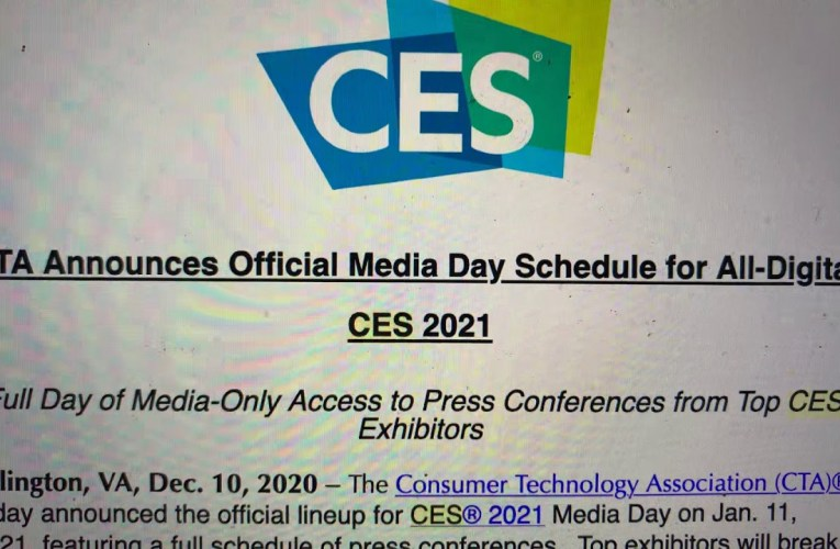 CES 2021 Official Media Day Schedule Features Bosch, Canon, Mercedes Benz, More Tech Brands