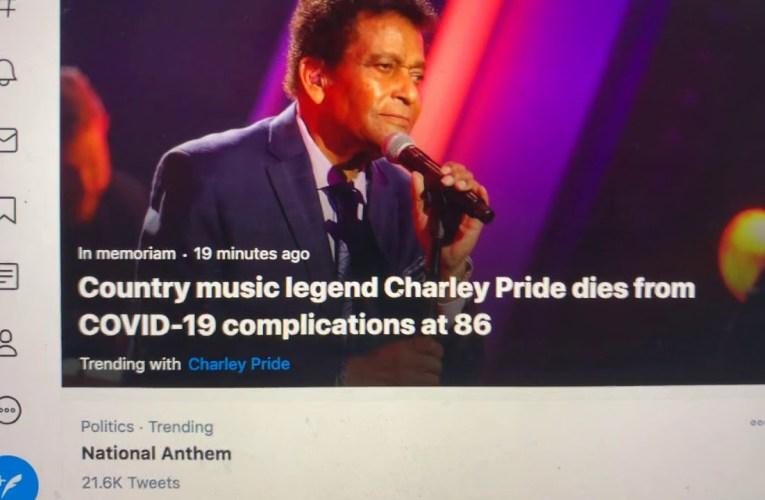 Charlie Pride Died Pride Is First Black Country Music Singer, Member Of Country Music Hall Of Fame