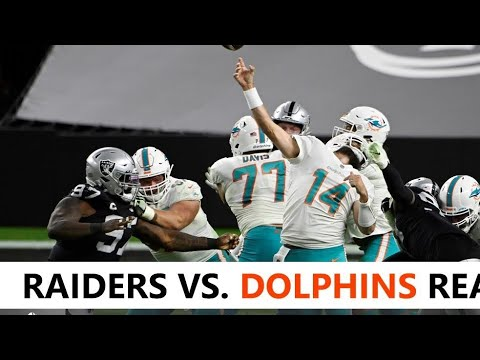 Live: Raiders Lose To Dolphins In The Most Shocking Game Ever: Miami 26, Las Vegas 25