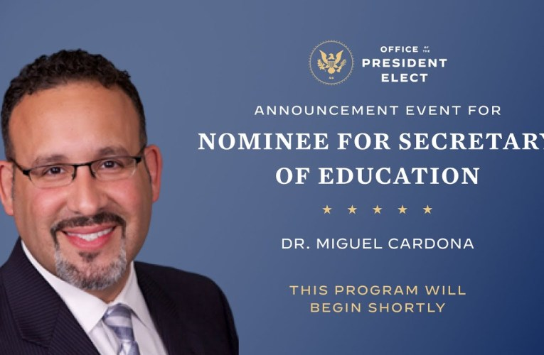 President-elect Biden Introduces his Nominee for Secretary of Education