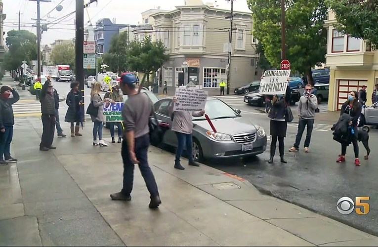 Protesters Demand Mayor London Breed Reopen Outdoor Dining In San Francisco