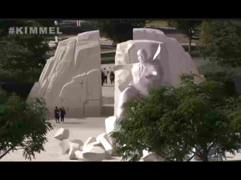 Jimmy Kimmel Has The Funniest Goodbye Donald Trump Video To Date As Monuments Celebrate