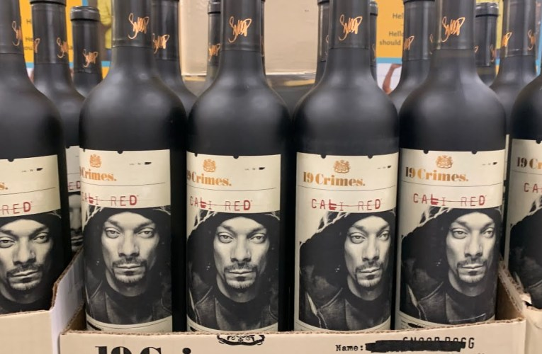Snoop Dogg's Face On 19 Crimes Wine Bottle – The L.A. King Of Rap Is Everywhere