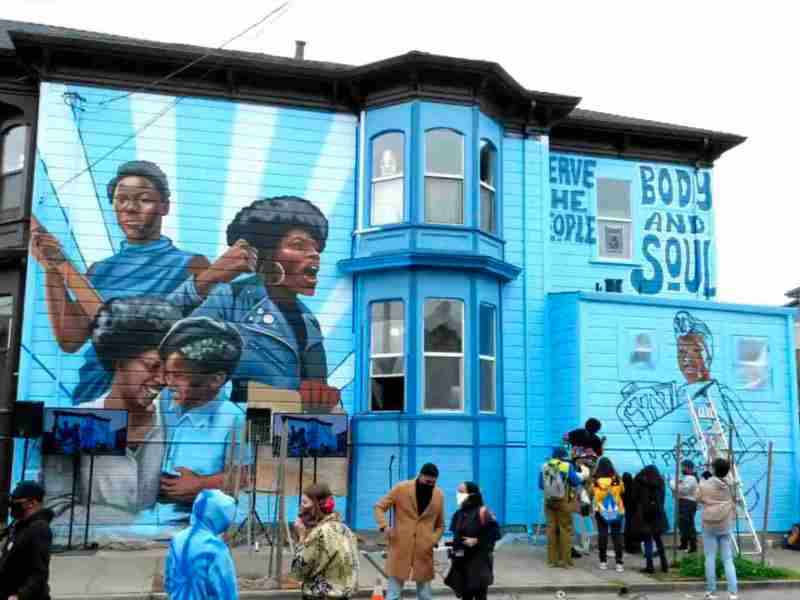 West Oakland Women Of The Black Panther Party Mural YouTube Livestream