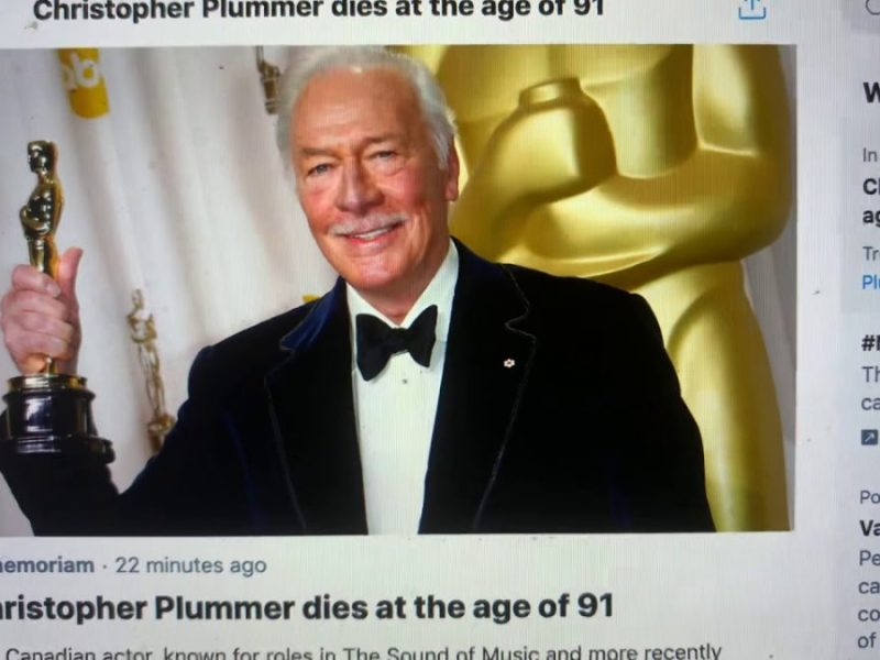 Christopher Plummer Died At 91 – Star Of Spike Lee's Inside Man, One Of My Favorite Actors.