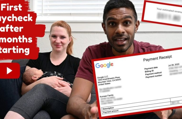 First YouTube paycheck after 2 months starting