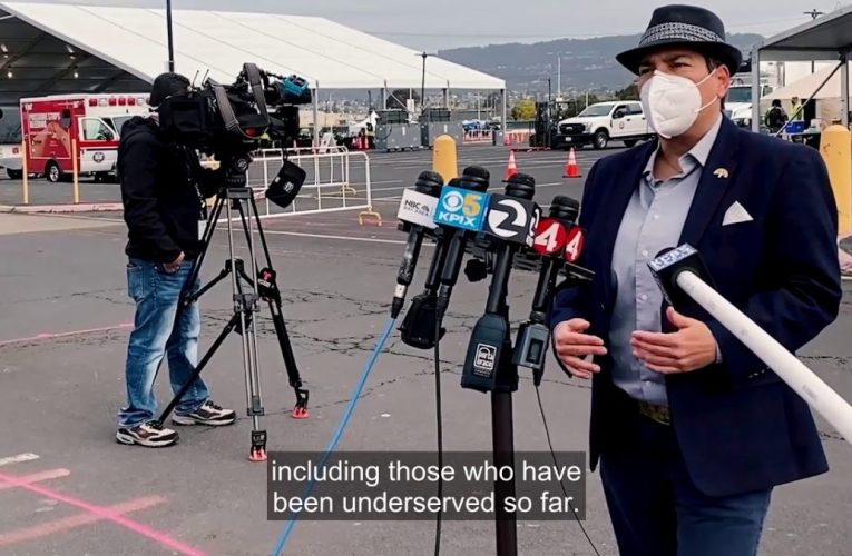 Rebecca Kaplan Video: Oakland Coliseum Is the First Federally Funded Mass Vaccination Site
