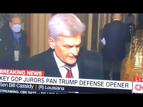 Senator Bill Cassidy (R) Louisiana Explains Why Trump's Impeachment Defense Team Lost Today