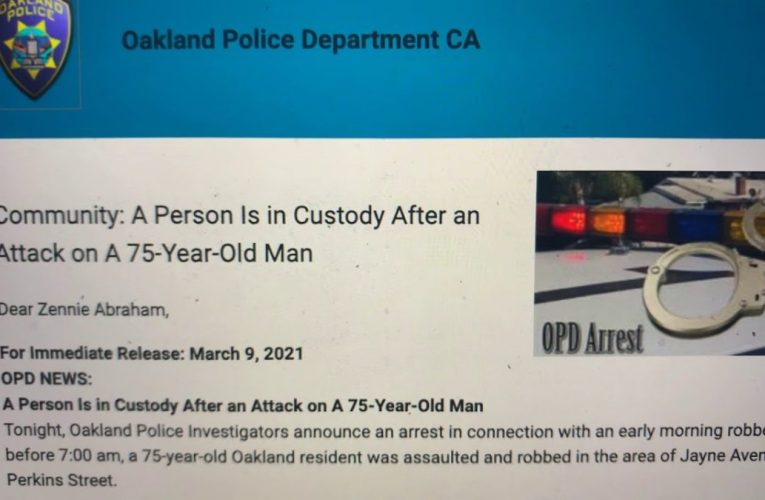 Oakland Crime: 75-Year-Old Elderly Man Victim Of Strong-Armed Robbery In Adams Point