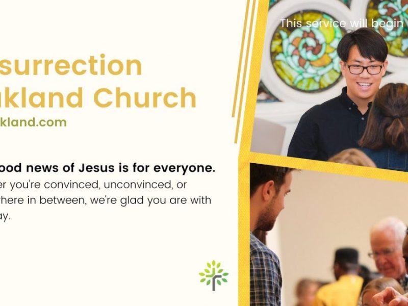 Resurrection Oakland Church Service For March 14 2021