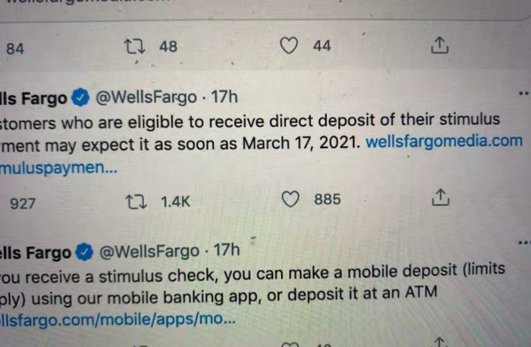 Wells Fargo Tweet To Customers To Wait To March 17 2021 For Stimulus Payment Is Social Media Fail